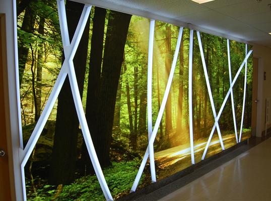 Murale-unité psychiatrique Hôpital de Granby fondation CHG