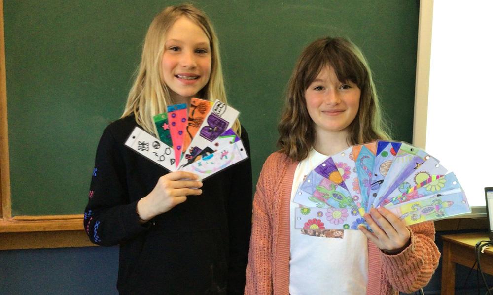 Julianne et Marilou école Saint-Joseph Fondation du CHG